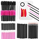 Audab Makeup Mixing Palette with 350PCS Disposable Makeup Applicators Brushes Includes Disposable Mascara Wands, Lip Wands, Spatula,Eyelash Brushes,Eyeliner Brushes for Makeup Artist Supplies