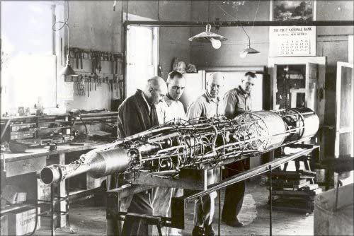 History Galore 24 x36 Gallery Poster Dr Robert Goddard with Rocket Roswell nm 1940 product image