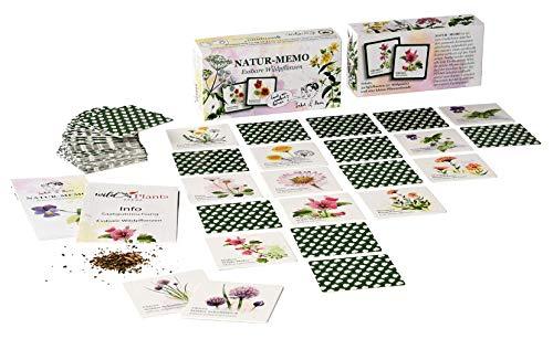 Essbare Wildpflanzen Memory - 54 Karten, mit Samenmischung