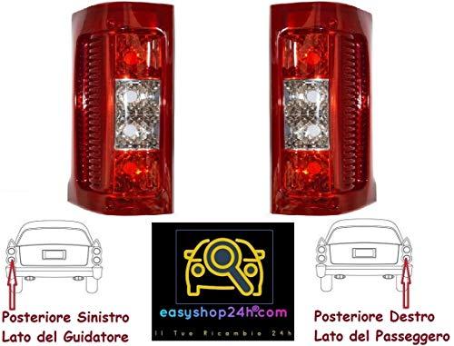 Set 2 Faro Fanale Fanalino Posteriore Sinistro Destro Per Ducato 244 Boxer Jumper 2002 a 2006 Gruppo Ottico Luce Stop