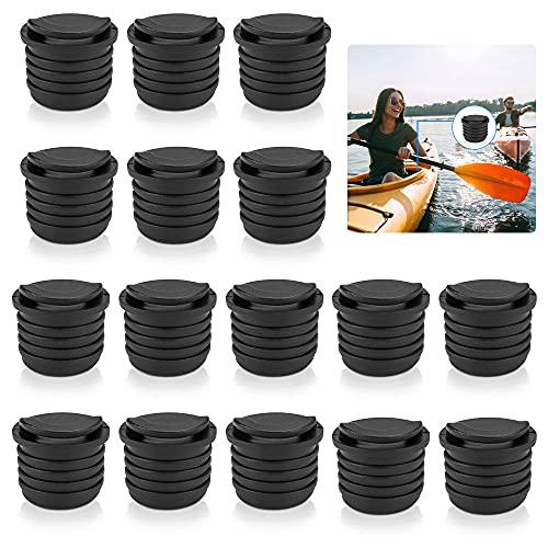 SNAGAROG 16 Tapones para Barco, Tapones de desagüe para Kayak, Canoa, Bote, tapón de Drenaje, tapón de Kayak, tapón de Kayak, tapón de Drenaje para Kayak, Barco, Agujeros de Drenaje, Color Negro