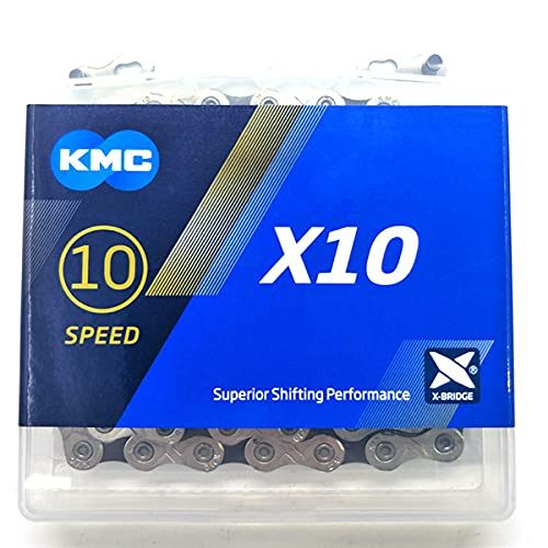 KMC X10 X10.93 Bicycle Chain 116links 10 Speed Sliver/Black