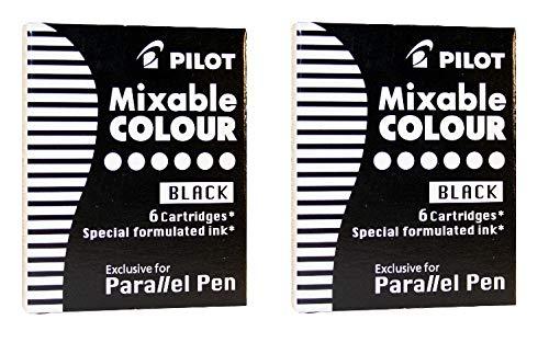 Pilot Lot de 2 cartouches d'encre Parallel Pen Noir
