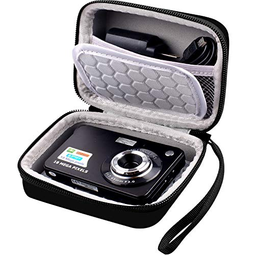 "Carrying & Protective Case for Digital Camera, AbergBest 21 Mega Pixels 2.7"" LCD Rechargeable HD/Canon PowerShot ELPH 180/190 / Sony DSCW800 / DSCW830 Cameras for Travel - Black"