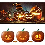 Halloween Flash Talking Animated LED Pumpkin Projection Lamp, Built-in Speaker Pumpkin Night Light, Perfect for Home Party, Novelty Halloween Decoration Supply, Stage Performance