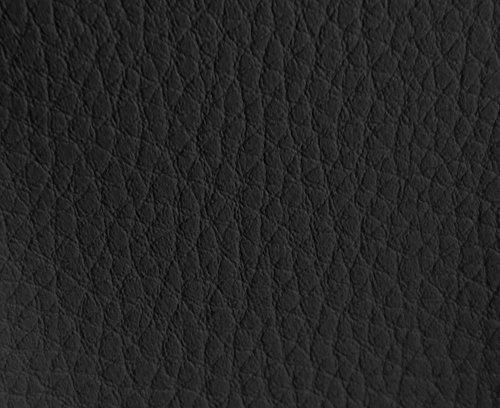 HAPPERS 0,50 Metros de Polipiel para tapizar, Manualidades, Cojines o forrar Objetos. Venta de Polipiel por Metros. Diseño Luna Color Negro Ancho 140cm