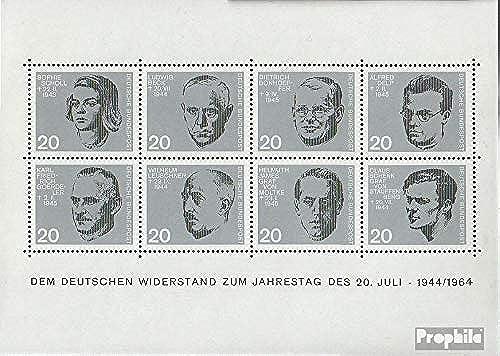 mejor opcion Prophila Collection RFA (RFA.Alemania) Bloque 3 (Completa.edición.) con Berlín-matasellos Berlín-matasellos Berlín-matasellos de Primer día 1964 Asesinato Encendido Hitler (Sellos para los coleccionistas)  comprar barato
