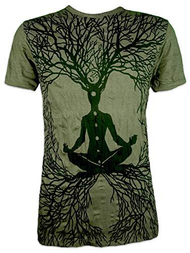 Sure Camiseta Hombre Wicca Art Gurú Talla M L XL Budismo Yoga Magia Alternativa Brujo Mago (XL, Ejercito Verde)
