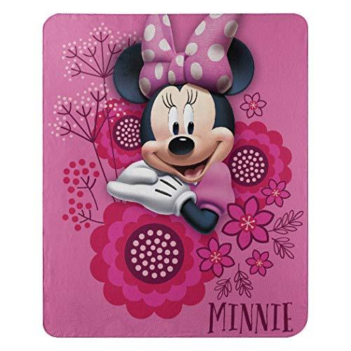 Disney's Minnie's Bowtique, 'So Many Bows' Fleece Throw Blanket, 45' x 60', Multi Color