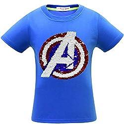 1syl Superhero Flash Flip Sequin T-Shirt