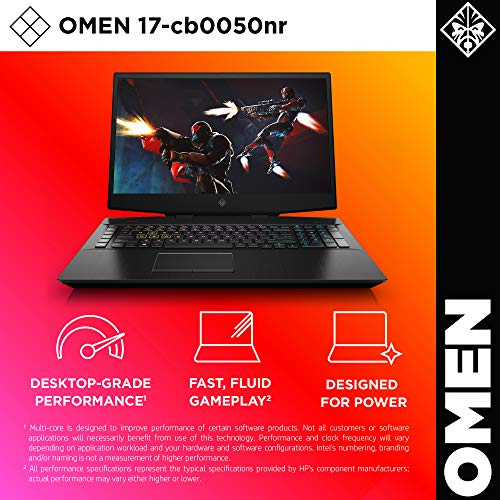 Omen by HP 2019 17-Inch Gaming Laptop, Intel i7-9750H Processor, NVIDIA RTX 2080 8 GB, 16 GB RAM, 256 GB SSD