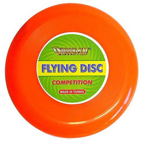 Outdoor Play Flying Disc Frisbee - Disco de competición (diámetro de 24 cm, con excelentes características de vuelo), color naranja