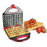 Sandwichera gofrera eléctrica, máquina de desayuno, gofrera eléctrica, tartas, sandwichera para hacer galletas, desayunos, etc.