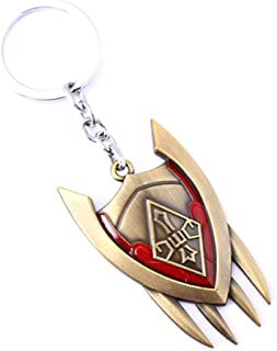 LOL League of Legends Shyvana Shield Key Chain Pendant Game Souvenir