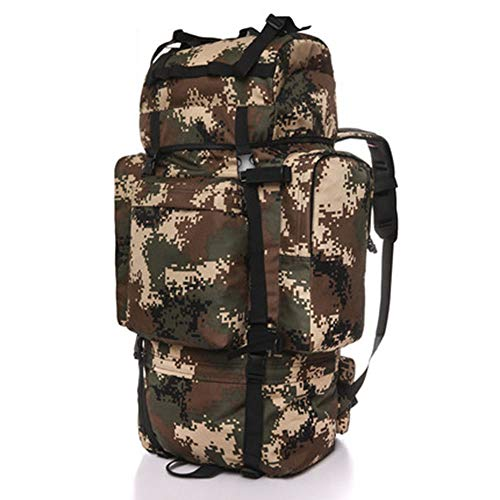 Tactical Backpack camo, Outdoor Mountaineering Bag Travel Backpack, Large Capacity Gift (Color : T, Size : A)