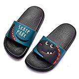 Chanclas de Playa Zapatos de Piscina para Niña Niño Sandalias Verano Antideslizante Zapatillas de Baño Casa Hombre Mujer Negro 31/32EU=32/33