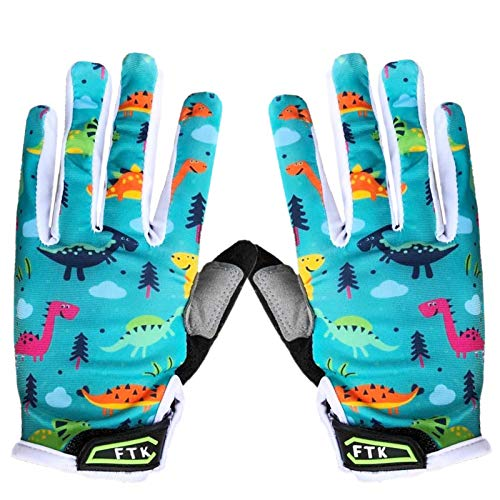 Amrta Fahrradhandschuhe Kinder MTB Jungen Mädchen 2-11 Jahre Roller Skate Sport Handschuhe Gel Rutschfest (Cyan, S)