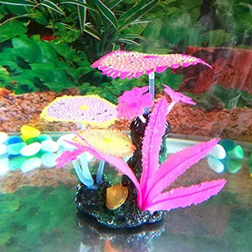 Planta de plantas artificiales del día de San Valentín romántico, ornamento artificial de la planta de decoración subacuática, planta de coral artificial, simulación para el tanque de pescado Aquaridu