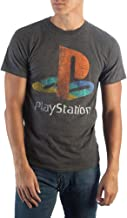 Sony PlayStation Shirt Classic Logo Distressed Heather T-Shirt
