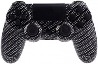 PS4 Controllerbehuizing voor Dualshock 4 Controller incl. Mod Kit - Black Silver Carbon Fiber