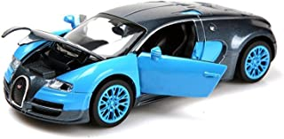 ZHMY 1:32 Bugatti Veyron Alloy Diecast car Model Collection Light&Sound Blue