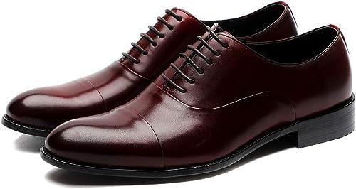 MALPYQ Los zapatos de Vestir de los hombres, los Tres británicos Combinan los zapatos de los hombres de Negocios británicos de Cuero