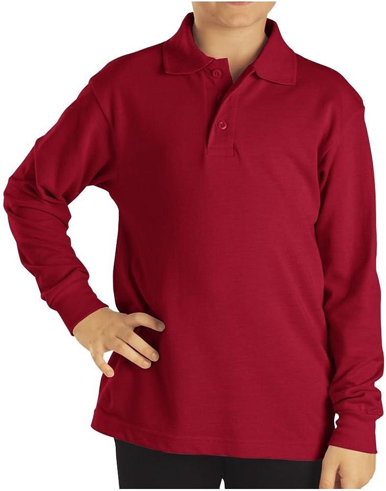 Dickies KL3452 Boy's Preschool LS Pique Polo Shirt English Red