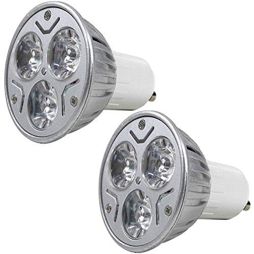 MENGS GU10 LED Warmweiss Lampen 3W 180 Lumen LED Leuchtmittel 3000 Kelvin Warmweiß, Ersatz 20W Halogenlampen 60 ° Abstrahlwinkel Reflektorlampen, CRI>80, AC 85-265V, 2Stück