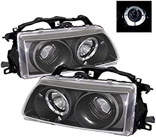 ZMAUTOPARTS Honda Crx Civic Halo Projector Headlights JDM Black CX DX LX Rt SE Hf Si