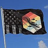 Elaine-Shop Banderas al Aire Libre desgastadas Bandera de EE. UU. Retro 70s Scuba Diver Icon 4 * 6 Ft Bandera para decoración del hogar Fanático de los Deportes Fútbol Baloncesto Béisbol Hockey