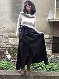Black Maxi Taffeta Skirt/Long Skirt With High Waist/Full lenght skirt/Steampunk skirt