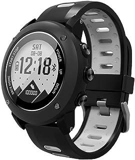 SOONCAT GPS Watch para Hombres, Running Smart Watch Reloj Deportivo para Hombre Negro Militar al Aire Libre con 11 Modos Deportivos - Negro