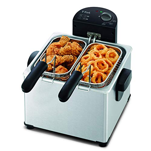 T-fal FR3900 Triple Basket Deep Fryer with Stainless Steel Removable...