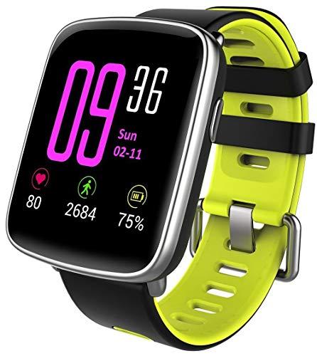 Willful Smartwatch con Pulsómetro,Impermeable IP68 Reloj Inteligente con Cronómetro, Monitor de sueño,Podómetro,Calendario,Control Remoto de música,Pulsera Actividad para Android y iOS (Verde)