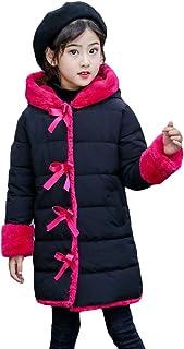 Runyue Children Kid Girl Padded Coat Winter Thicken Hoodies Jackets Warm Outerwear Mid Long Parka
