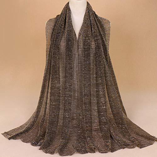 XINDUO Seda Estampado Floral Colorido Gran Bufanda,Toalla de Seda Brillante sólida y Transpirable 06# _200 * 75,Fular Manton Estampado de Mujer