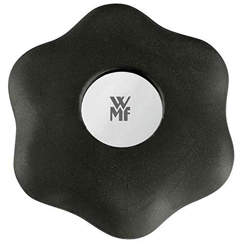 WMF 06.5801.6200 Schraubdeckelöffner Clever & More Cromargan Edelstahl Durchmesser 6cm, Schwarz