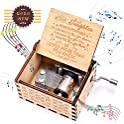 Fezlens Sunshine Wood Hand Crank Musical Box