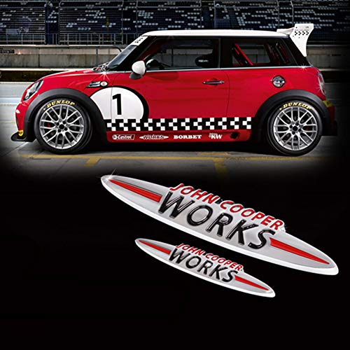 AniFM JCW 3D-Dekoration Aufkleber Modifikationszubehör Für Mini Cooper S John Cooper Works R50 R52 R53 R55 R56 R60 F54 F56 F60 Autostyling