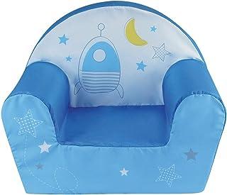 Fun House 713070 Espace Fauteuil Club Enfant Origine France Garantie, Bleu/Jaune, à partir de 18 Mois