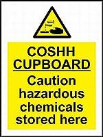 Coshh Cupboard 金属板ブリキ看板警告サイン注意サイン表示パネル情報サイン金属安全サイン