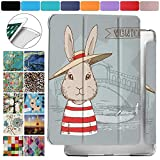 DuraSafe Cases for iPad Mini 3 / Mini 2 / Mini 1-7.9 Inch Protective Durable Shock Proof Cover with Supportive Dual Angle Stand & Honeycomb Pattern Clear Back - Bunny Hat