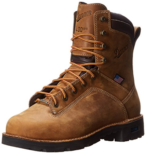 Danner Men's Quarry USA 8 Inch 400G Work Boot,Distressed Brown,9.5 D US