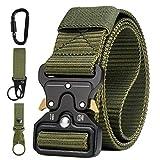AivaToba Cinturón Táctico para Hombres Cinturón de Seguridad Militar Resistente de Nylon con Hebilla Metálica de Liberación Rápida para Trabajo Policial Caza Ejército al aire Libre