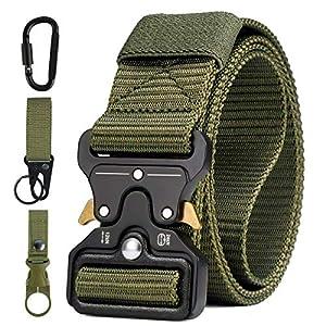 51X0 WPxPBL. SS300  - AivaToba Cinturón Táctico para Hombres Cinturón de Seguridad Cobra Militar Resistente de Nylon con Hebilla Metálica de Liberación Rápida para Trabajo Policial Caza Ejército al aire Libre,125cm