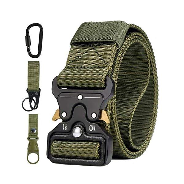 51X0 WPxPBL. SS600  - AivaToba Cinturón Táctico para Hombres Cinturón de Seguridad Cobra Militar Resistente de Nylon con Hebilla Metálica de…