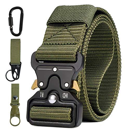 51X0 WPxPBL - AivaToba Cinturón Táctico para Hombres Cinturón de Seguridad Cobra Militar Resistente de Nylon con Hebilla Metálica de…