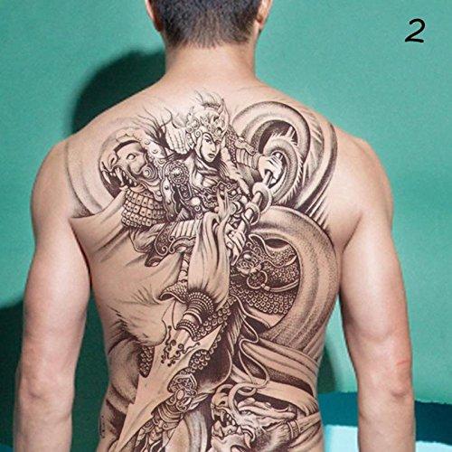 EROSPA® Tattoo-Bogen temporär - Aufkleber Ganzer Rücken #2 - 34 x 48 cm
