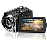 CamKing Video Camera Camcorder, WiFi 24MP HD 1080P 3.0 Inch Screen Digital Video Camera 16X Digital Zoom Infrared Night Vision Camera with 270 Degree Rotation Screen for YouTube/Photography