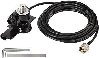 Bingfu Fahrzeug CB Radio Mobilfunkantenne Fixhalterung Montage Lippenhalterung mit 5 m UHF PL259 Stecker auf SO239 Buchse Schottmontage RG58 Kabel für PKW LKW CB Radio Amateurfunk Amateurfunk